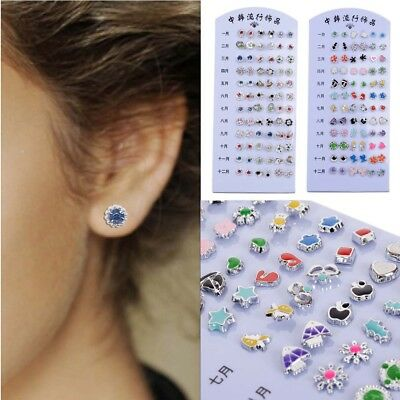 36 Pairs Whole Mixed Lots Alloy Plastic Ear Studs Hypoallergenic Earrings Us