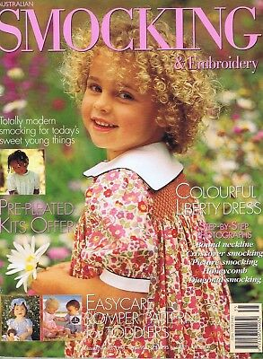 SMOCKING & EMBROIDERY MAGAZINE ISSUE NO 35 Girls Baby Sewing Patterns