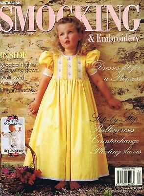 SMOCKING & EMBROIDERY MAGAZINE ISSUE NO 34 Girls Baby Sewing Patterns