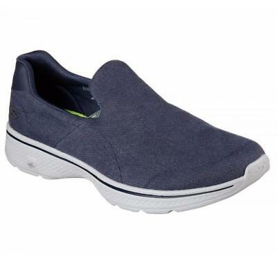 Mens Skechers Go Walk 4 Magnificent Comfort Slip On Walking  Shoes All Sizes