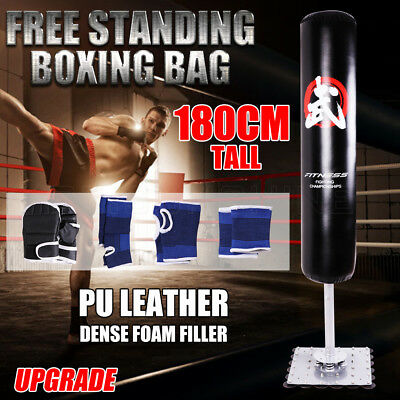 180CM Free Standing Boxing Kick Punching Bag Dummy Target Fitness Gym MMA Home
