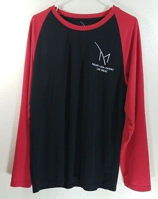 New M Resort Hotel Casino Las Vegas Mens LARGE Long Sleeve Polyester T-Shirt