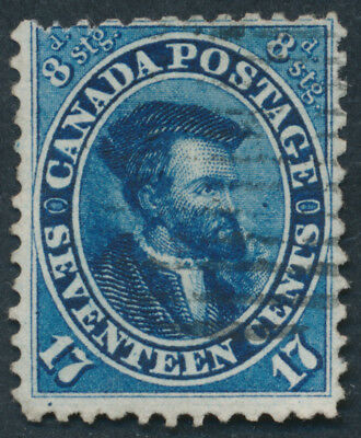 Canada  #19 17c Jacques Cartier, Fine, Position 97, Reperf