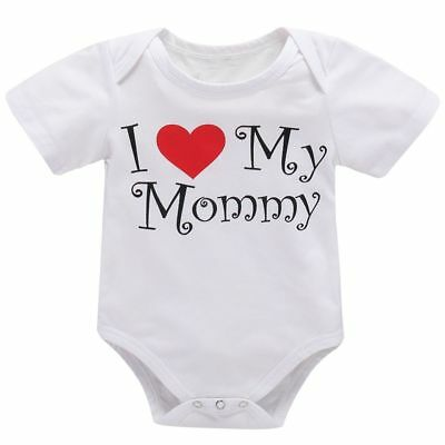 Cotton Kids Outfits Short Sleeve Baby Romper Mother's Day I Love My Mummy