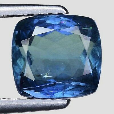 2.950 Cts PROSPEROUS LUSTER! BLUE NATURAL TANZANITE CUSHION CUT LOOSE GEMSTONES
