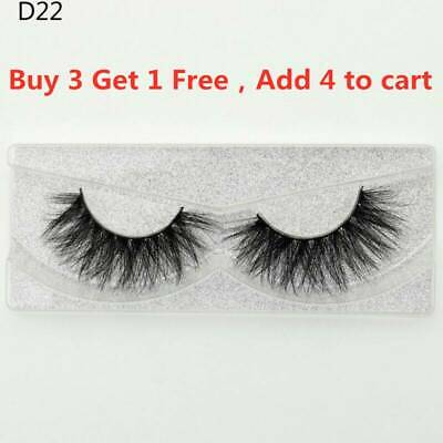SKONHED 3D Mink Hair False Eyelashes Wispy Cross Lashes Fluffy Handmade Long