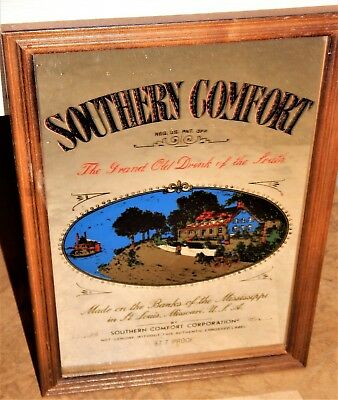 Southern Comfort Whiskey Advertising Mirror Sign Alcohol Bar Man cave Garage