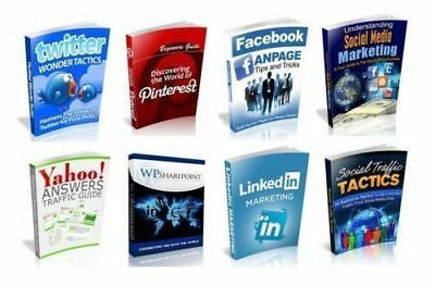 100 Social Media eBooks With Resell Rights ( Only 5¢ per Book ) PDF