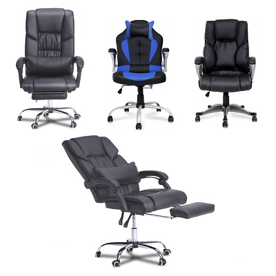 Gaming Chair Leather Racing Office Executive Ergonomic Computer Desk Chairs New