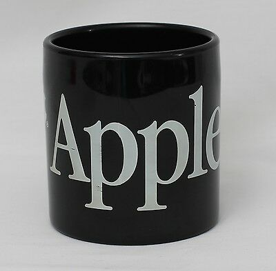 Vintage Retro Black Plastic Genuine Official Apple Computer Mug Cup