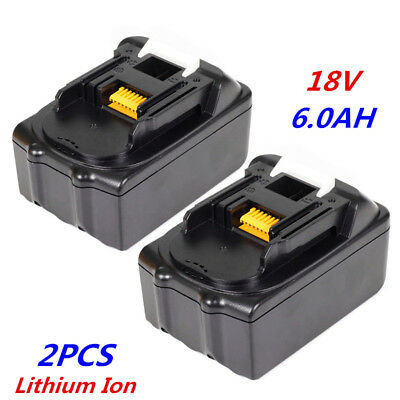 2 X 18V 6.0Ah Lithium Ion Battery For Makita LXT BL1830 BL1840 BL1860 UK NEW