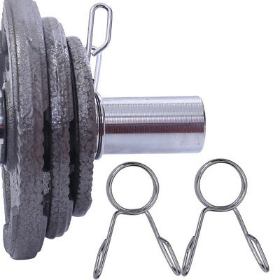 2pcs 5cm Olympic Barbell Clips Spring Collars Dumbbell Weight Bar Lock Jaw Clamp