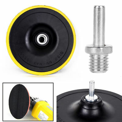 3/4/5/6/7'' Backing Pad Polishing Buffing Plate Rubber Backer + M14 Drill Thread