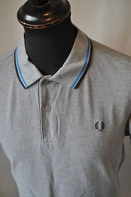 Vintage Fred Perry grey polo shirt in size large mod casual tennis