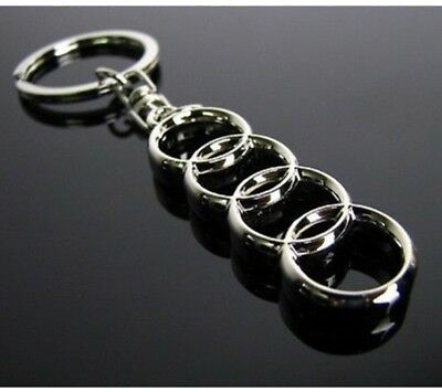 Audi Stylish Metal Chrome Keyring Key Ring Fob A4 A1 A3 A5 A6 A8 Q3 Q5 Q7 Tt S3