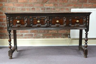 Antique Oak Dresser Base 18th Century Sideboard
