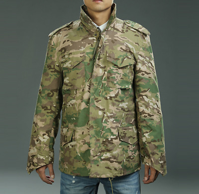 Camo Military M-65 Field Coat Camouflage Army M65 Tactical Uniform Jacket  M1965 5c21b210083