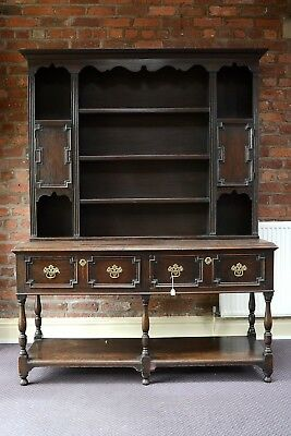 Victorian Oak Dresser Antique Jacobean Style Welsh Dresser