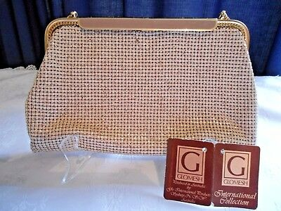 Vintage Glomesh bag, Aust made, hard to find colour in original box