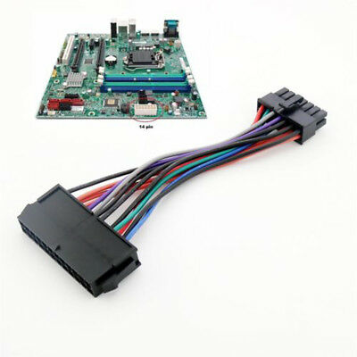 1pc 24 Pin to 14 Pin PSU Main Electric ATX Adapter Cable New for Lenovo M92P IBM