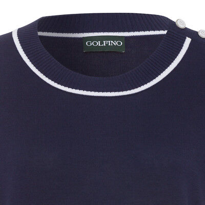 Golfino Prima Cotton Round Neck Pullover Damen navy