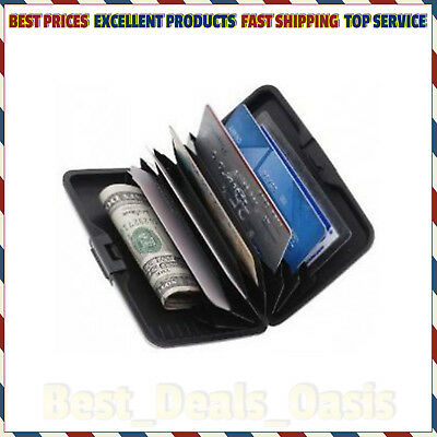 Aluminum RFID-Protected Wallet Money 7 Cards Holder Water-Resistant Sturdy Slim