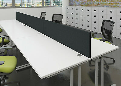Desk Mounted-Fabric Screen Black Slim For Standard Desk Brackets