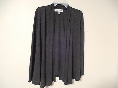 NWT Maternity cardigan sweater long sleeve dark gray XS open front Old Navy new