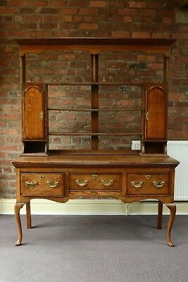 Georgian Oak & Mahogany Open Backed Welsh Dresser 1820s