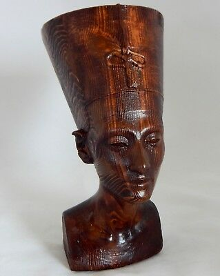 Nefertiti Egyptian Queen Large Wood Replica As In Neues Museum Berlin Germany