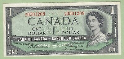 1954 Bank of Canada One Dollar Note Devil's Face - Beattie/Coyne -O/A6501208- EF