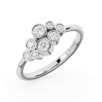 0.40CT Round Brilliant Cut Diamonds Cluster Ring Available in 18K Gold