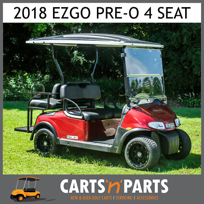 2018 EZGO RXV PRE-O 4 Seat Golf Cart Buggy Red