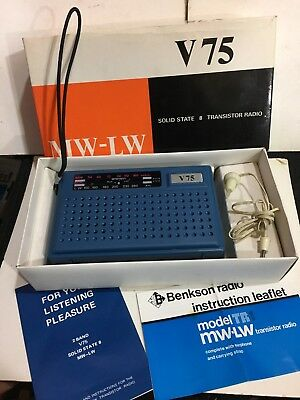VINTAGE V75 2 BAND  RADIO  AM(MW)-LW BAND 1960S-1970s VERY RARE In New Condition
