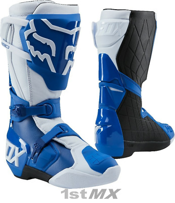 Fox Racing 180 Blue White Motocross MX Offroad Race Boots Adults UK9 US10