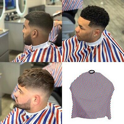 Dincer Barber Pole Cape Classic Pinstripe Salon Hairdresser Stylist Gown Premium