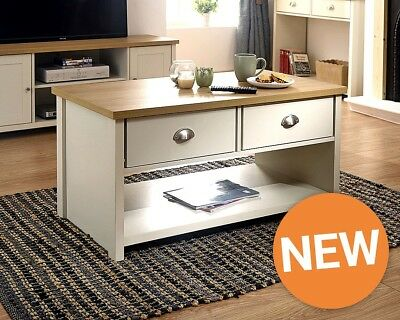 Stylish Downstairs Range, TV Units, Lamp and Coffee Tables Grey Cream Two Toned