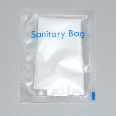 100 Sachet, Travel Size Disposable Sanitary Bags Hygeine Vanity Kit; 2pcs/sachet
