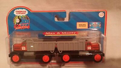 Thomas Wooden Railway Max And Monty Rare Discontinued New Nib Red Label 2006