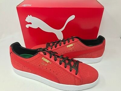 abc220cccc8f NEW! PUMA MEN S Clyde GCC Sneakers Red Black Size 13  36263102 Z39 z ...