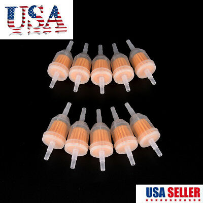 """10Pcs 1/4"""" 6mm/8mm Inline Gas Fuel Filter For Yamaha Small Engine Lawn Mower PEI"""