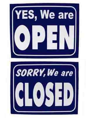 Large Shop Window Display Open Display Closed Opening Sign Card Time