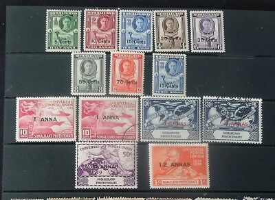 British Somaliliand small group of George VI stamps