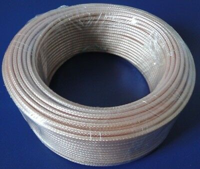 RG179 100ft, single shielded, 75 ohm, coaxial cable with Tan FEP jacket