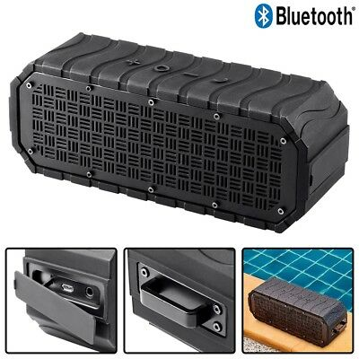 Bluetooth Wireless Speaker Waterproof Outdoor Rechargeable IPX6 w/ USB Cable