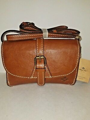 0a8161728fe3 Patricia Nash Torri Cross-body Purse Tan Small Tan Italian Leather NWT W21  B2