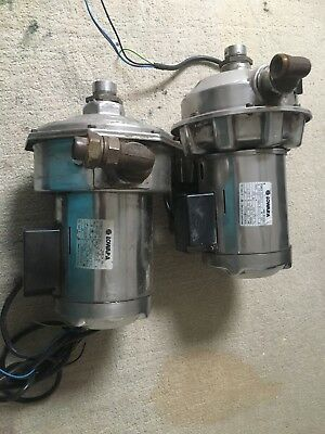 2 x LOWARA centrifugal water pump, from kover glass washer, working order