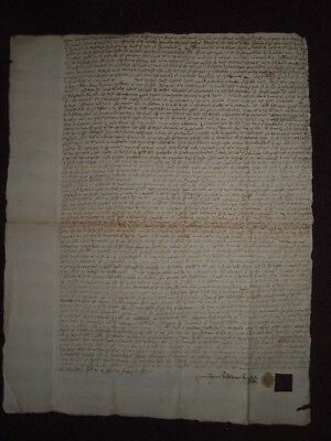 1657 Letters Of Poynding & Apprizing Legal Document Ayr Scotland Oliver Cromwell