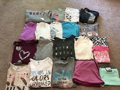 Youth Girls Size Large (10/12) - Lot Of 20 Items! Justice, Old Navy, Nike, Etc!