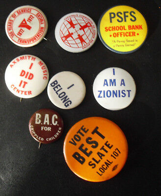 Lot of 8 Vintage Variety YMCA Zion Others Pins Pinbacks